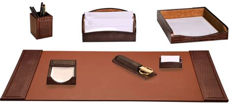 Crocodile Leather Office Set Western Office Accessories