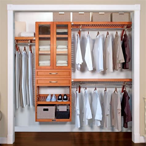 deep woodcrest deluxe closet organizer