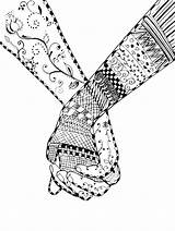 Coloring Hands Holding Couple Zentangle Fantasy Couples Printable Adult Drawing Illustration Advanced Pencil Adults Kidspressmagazine Vector Swirl Flower Royalty Getcolorings sketch template