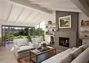 Inspiring Vaulted Ceiling Family Room Photo by Nana Wall Trend Santa Barbara Contemporary Living