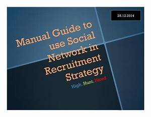 Manual Guide To Use Social Network In Recruitment