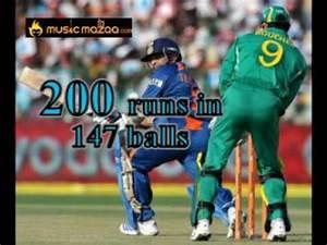 Sachin Tendulkar First ODI double century 200 not out ...
