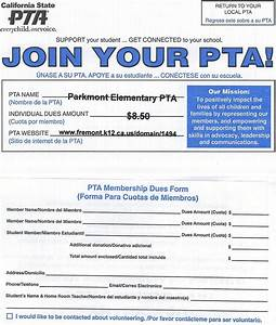 pta parkmont pta membership With pta membership card template