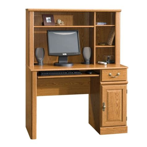 sauder orchard hills computer desk with hutch 401353