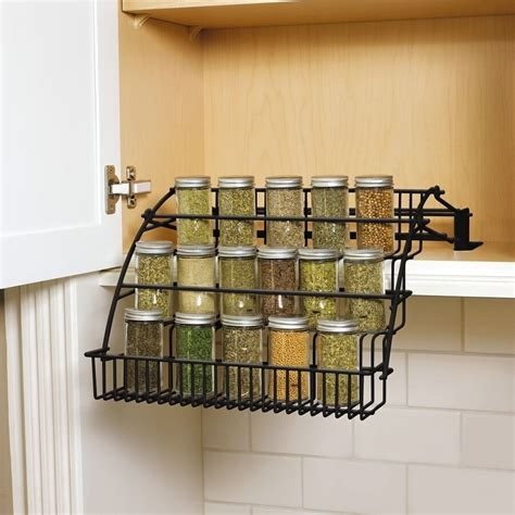 Spice Storage For Cupboards by Rubbermaid Kitchen Cabinet Pull Spice Rack Storage
