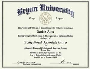 Bryan University Associates Degree Diploma