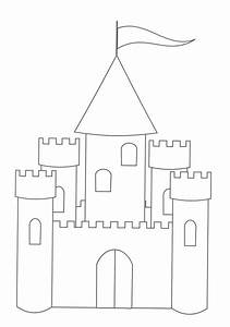 free printable castle coloring pages for kids With castle cut out template