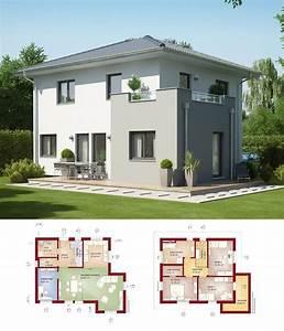 Haus Walmdach Modern : stadtvilla modern haus evolution 125 v7 bien zenker einfamilienhaus walmdach fassade putz ~ Indierocktalk.com Haus und Dekorationen