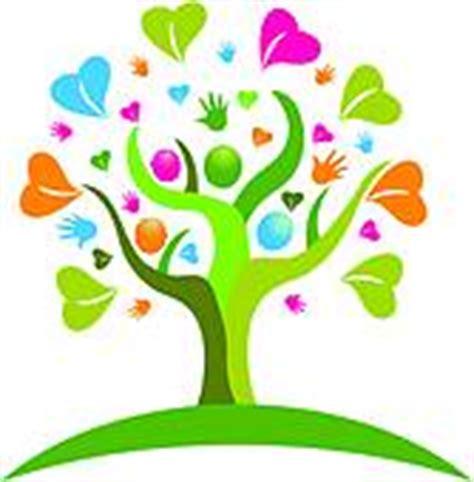 clipart  tree hands  hearts figures logo icon vector