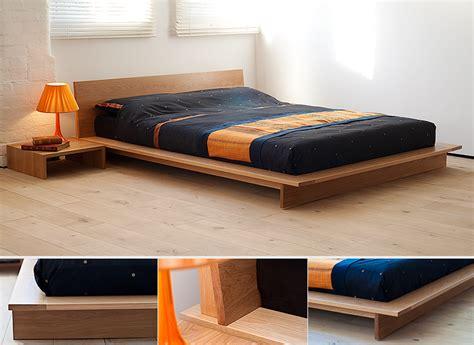 Low Bedroom Frames oregon oak bed a dramatic low platform bed the mattress