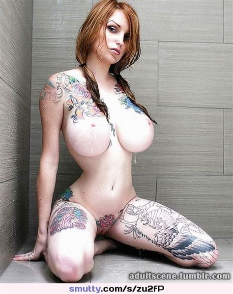 Sexy Naked Inked Body Ink Inked Boobs Tits Pussy