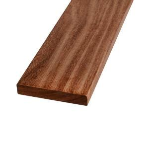 hardwood boards home depot 5 4 in x 6 in x 8 ft tropical hardwood decking board 246024 the home depot