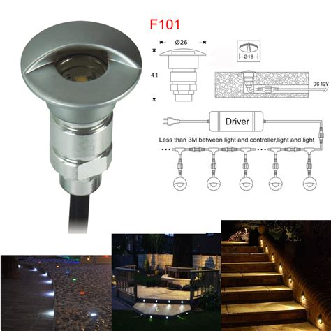 recessed led outdoor step lights aliexpress com buy 0 6w dc12v led step light outdoor led