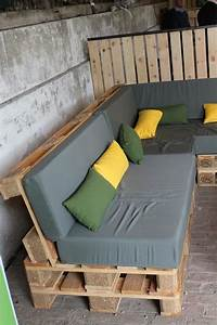Fabriquer Son Canapé Soi Meme : construire un salon de jardin en bois de palette ~ Melissatoandfro.com Idées de Décoration