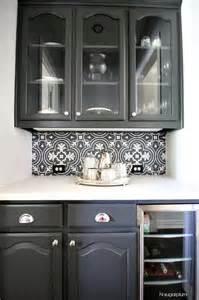 black and white kitchen backsplash white butler pantry with white herringbone tile backsplash transitional kitchen