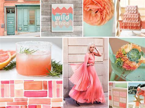 coral color decor coral pink coral wedding decor