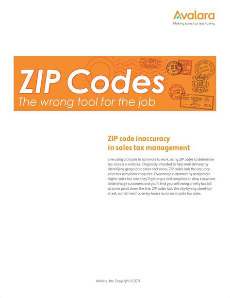 Zip Codes The Wrong Tool For Calculating Sales Tax Free