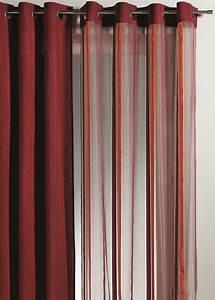 Rideaux Rayures Verticales : rideau en organza rayures verticales piment achat tous les voilages ~ Teatrodelosmanantiales.com Idées de Décoration