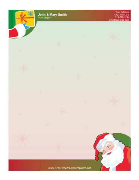 santa claus  gift letterhead