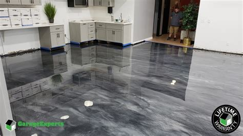 metallic epoxy flooring  liberty mo garage experts