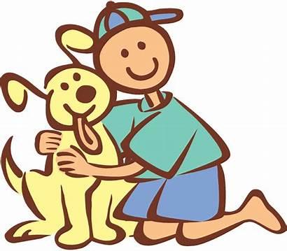 Clipart Cartoon Hugging Friends Boy Dogs Dog