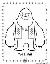 Yeti Coloring Printable Nod Dessin Coloriage Winter Fun Ted Colouring Snowman Monster Birthday Crafts Bigfoot Crate Landofnod Fois Imprime Gratuit sketch template