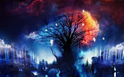 fairy tree  fantasy land wallpaper  desktop