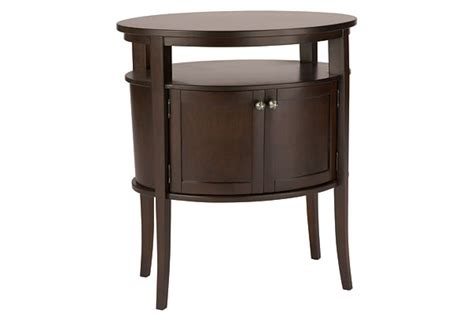 Oval Nightstand by Revelle Oval Nightstand For Rent Brook Furniture Rental