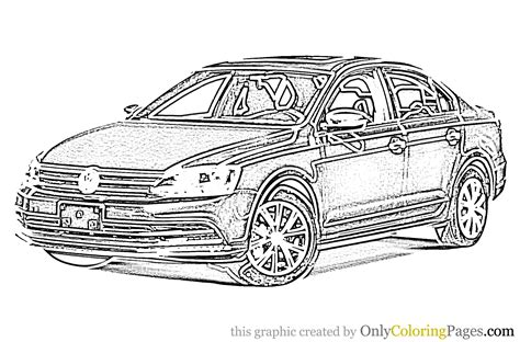 Kleurplaat Golf Gti by Jetta Car Coloring Page Jetta Car Coloring