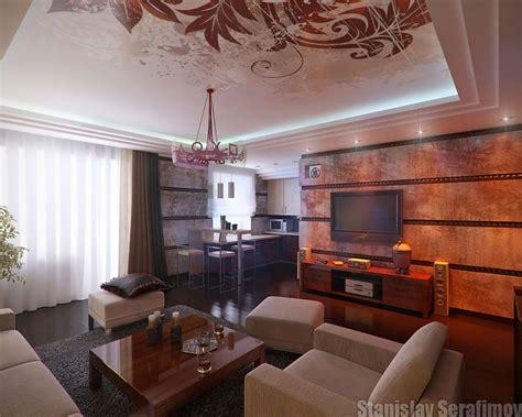 Wohnzimmer Wand Steine by Stylish Living Rooms