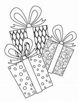 Coloring Pages Christmas Presents Printable Complex Door Hangers Signs Stocking Activity Template Print Spr Ly Yard sketch template