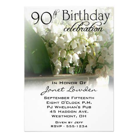 ninetieth birthday invitations