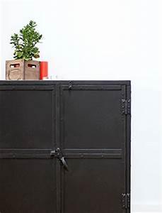 buffet industriel et buffet metal made in meubles With meuble de cuisine ilot central 15 meuble tv industriel bois brosse et metal made in meubles