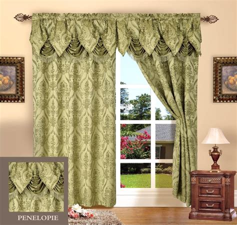 20 Inch Valance Curtains by 2 Penelopie Curtain Panels With Attached Austrian