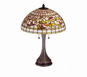Tiffany style 23quot turning leaf table lamp qvccom for Tiffany floor lamp qvc