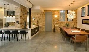 amnagement cuisine ouverte sur salle manger free deco With deco cuisine avec tres grande table salle a manger