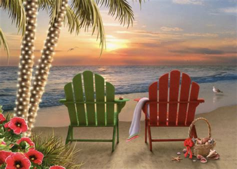 adirondack chairs alan giana christmas card  lpg