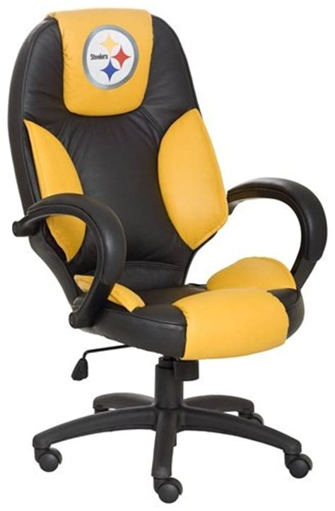 nfl pittsburgh steelers leather office chair