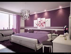 Bedroom. Cute Decoration For Teenager Room Ideas: Purple ...