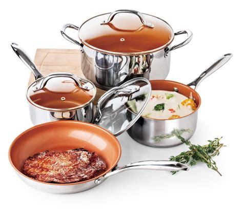 culinary edge item ce ceramic titanium infused nonstick  piece stainless steel cookware set