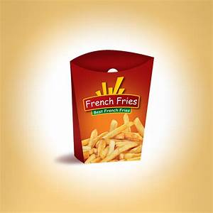 french fries packaging template and logo we design packaging With french fries packaging template