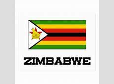 Zimbabwe Flag Postcard Zazzle
