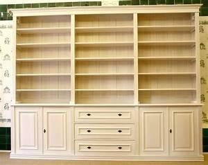 Regal Weiß Mit Türen : b cherwand in wei massivholz mit t ren und sch ben 250x300x40cm ebay ~ Indierocktalk.com Haus und Dekorationen