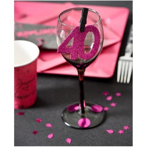 confettis anniversaire 20 ans fuchsia paillet 233 les 6 confettis de table
