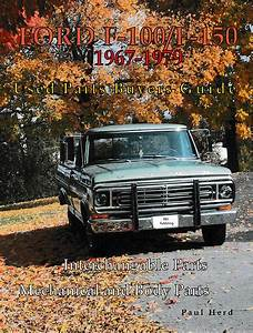 Ford F100 F150 F250 Parts Interchange Manual Book 1967