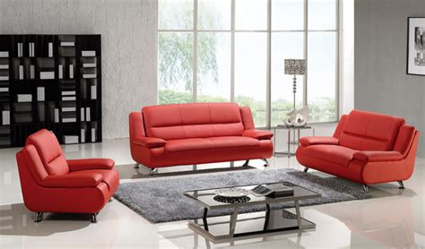 3 Pc Living Room Sofa Sets by 3 Pc Modern Leather Sofa Set Loveseat Chair