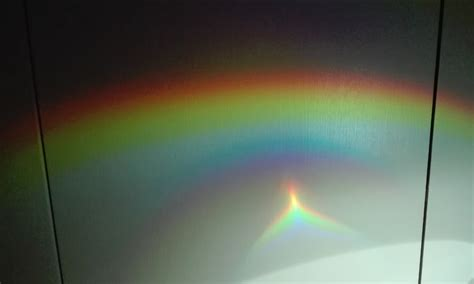An Wand by Do It Yourself Regenbogen Beugung Am Optischen Gitter