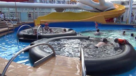 disney cruise line disney wonder cruise ship tour deck 9 mickey s pool youtube