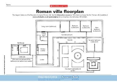 how to draw floor plans for a house villa floor plan free primary ks2 teaching resource scholastic