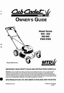 Cub Cadet Lawn Mower 950